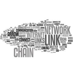Link word cloud concept vector
