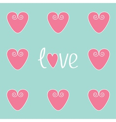 Love card with pink hearts vector image