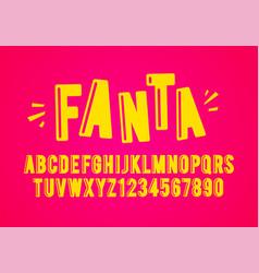 modern playful fun font and alphabet vector image