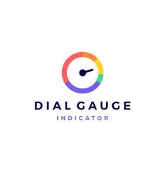 modern vibrant dial gauge logo icon vector image