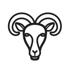 Moutain goat face vector
