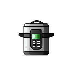 Multi cooker glyph icon slow cooker crock pot vector
