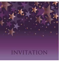 new year gold and violet star background vector image