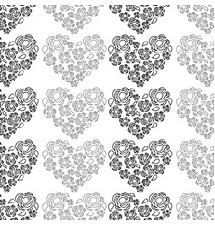 nice heart decoration design vector image