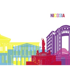Nicosia skyline pop vector image