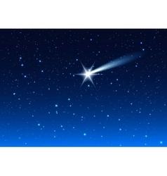 Night sky Star drops in night sky make wish vector