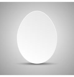 Paper Banner Design Mockup Egg vector image