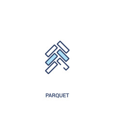 Parquet concept 2 colored icon simple line vector
