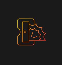 Pencil sharpener gradient icon for dark theme vector