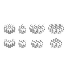 People icon set crowd signs persons symbol in vector