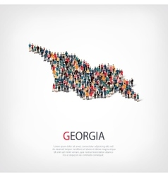 People map country Georgia vector