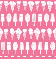 Pink ice cream stripes seamless pattern vector