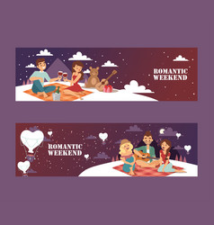 romantic weekend picnic vector image