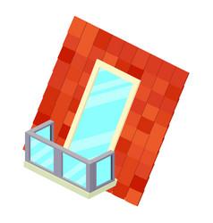 roof balcony icon isometric 3d style vector image