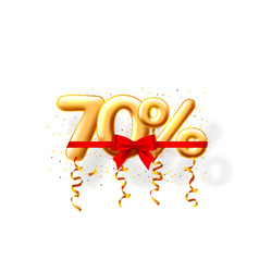 sale 70 off ballon number on white background vector image