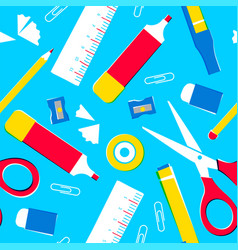 school supplies or office tools seamless pattern vector image