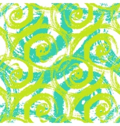 Seamless pattern with bold swirling brush strokes vector image