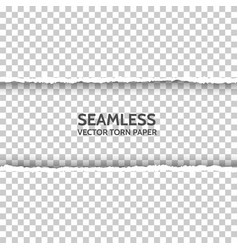 seamless torn paper on transparent background vector image