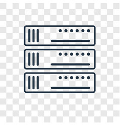 server concept linear icon isolated on vector image