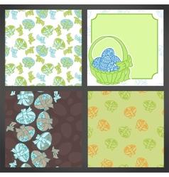 set easter backgrounds lots detail vector image