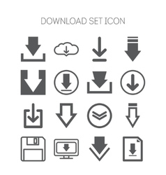 Set of download icons for web site applications vector