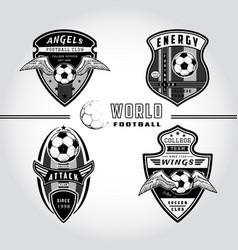 Set soccer badge logo vector