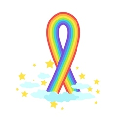Shaped Rainbow Icon vector