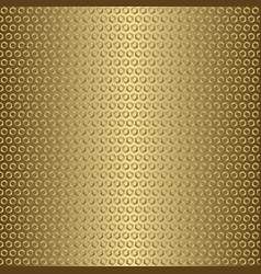 Shiny gold gradient metal seamless pattern with vector