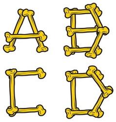 skull bone alphabet1 resize vector image