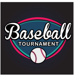 Sport baseball tournament image vector