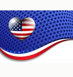 Stars Stripes Background vector image