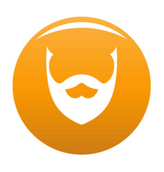 Stylish beard icon orange vector