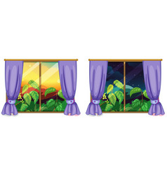 Two views from the windows vector