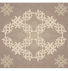 Vitage brown flourish pattern vector image