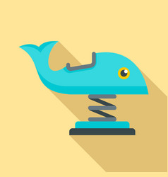 whale amusement ride icon flat style vector image