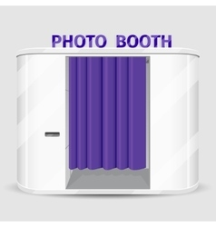 White photo booth vending machine vector image