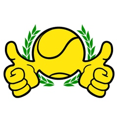 Winner tennis symbol vector