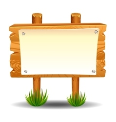 Wooden sign post icon symbol label vector image