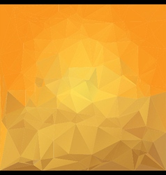 yellow random crystal background vector image
