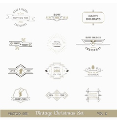 Christmas Calligraphic Design Elements Set vector image vector image