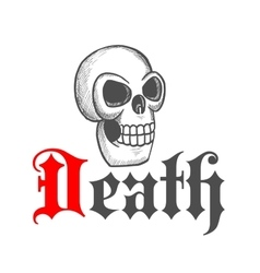 Gothic skull icon for Halloween mascot design vector image vector image