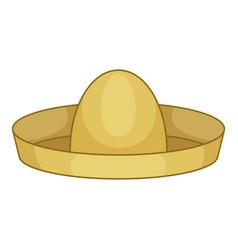 mexican hat sombrero icon cartoon style vector image