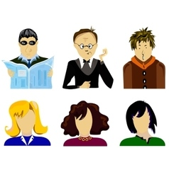 Set people vector image