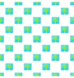 Artificial islands in uae pattern cartoon style vector