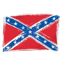 Grunge Confederate flag vector image vector image
