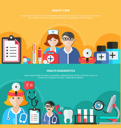 health care flat banners vector image