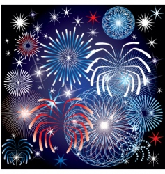 July 4th fireworks vector image vector image