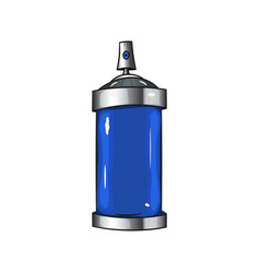 sprays with blue paint vector image