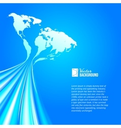 World map technology style vector image