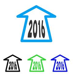 2016 ahead arrow flat icon vector image vector image